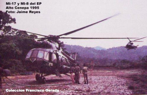 Mi-17 y Mi-8 del EP