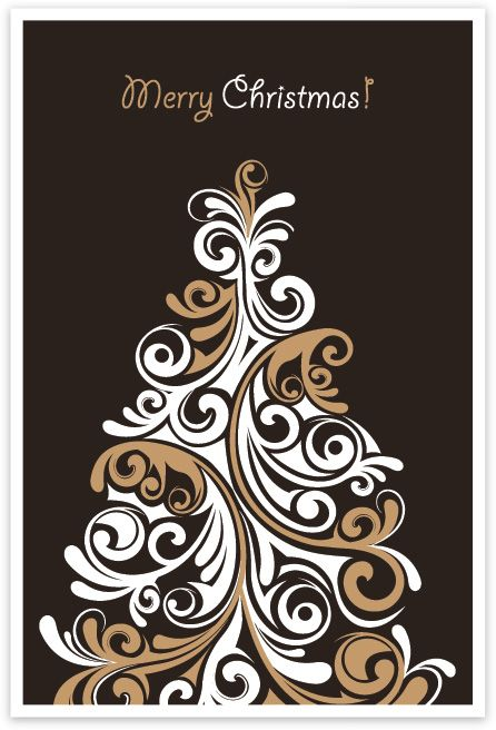 Christmas Tree Card 2 Vector Graphic FREE