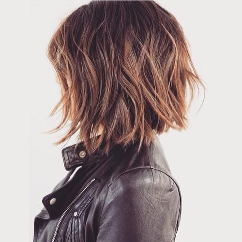 Side View of Short Shaggy Bob Haircut