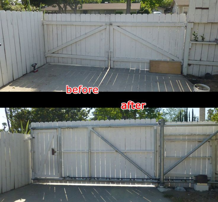 [youtube= In this series of posts, I will show you how to build a cantilever sliding gate from scratch. The picture below shows the before-and-after of my project. I needed to convert my old double…