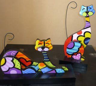 Esculturas de gatos inspiradas en Britto