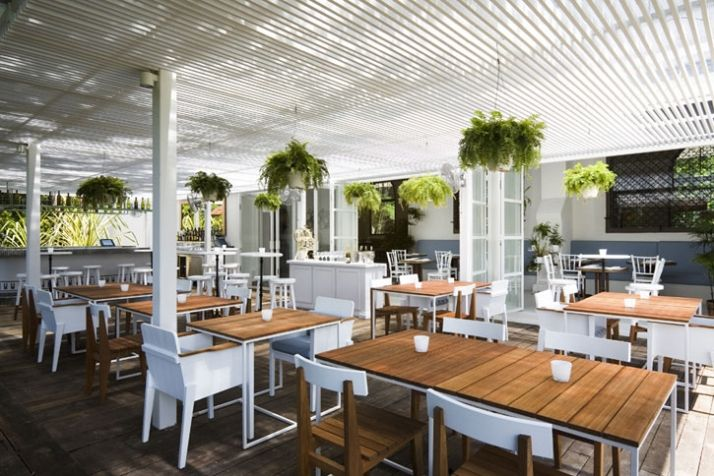 The White Rabbit Restaurant in Singapore | Yatzer chunky outdoor furniture