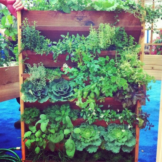 Space saving vertical gardening