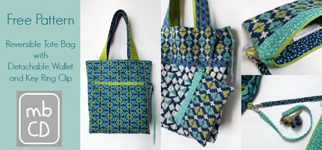 Friday Spotlight: Fabulous Reversible Tote, Wallet & Key Clip! — SewCanShe | Free Daily Sewing Tutorials