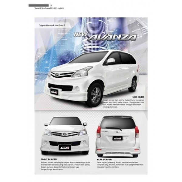 Bodykit Toyota All New Avanza