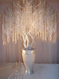 could make this with tree branches and beads and fishing line...