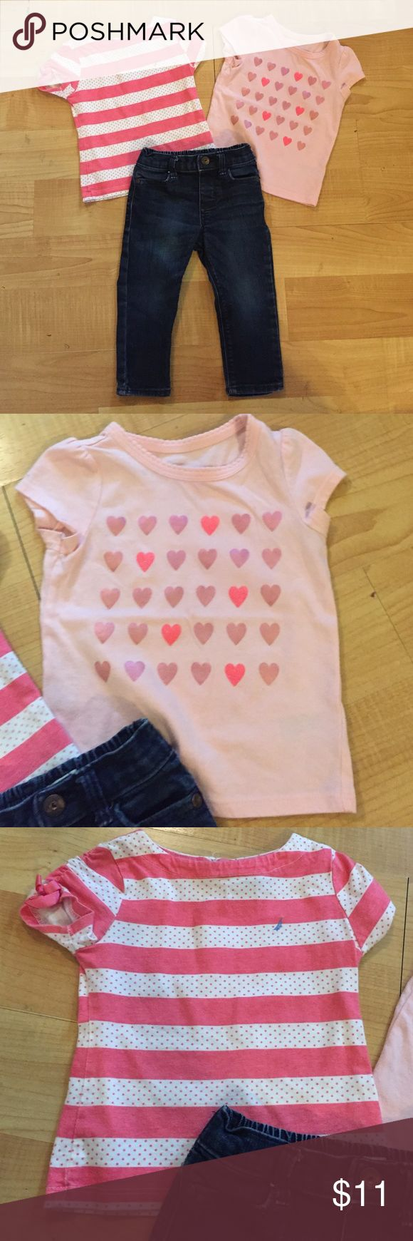 18M Pink Shirt Jeans Outfit No stains no holes. All 18M. All of my kids clothes have been kept very clean!!! Matching Sets