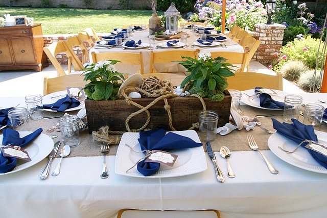 """bridal shower: this """"rustic nautical"""" theme would match Whitney's beachside wedding"""