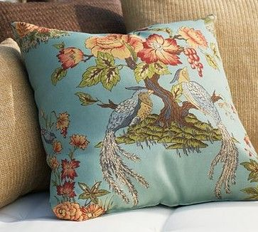 Blue Bird Outdoor Pillow asian outdoor pillows