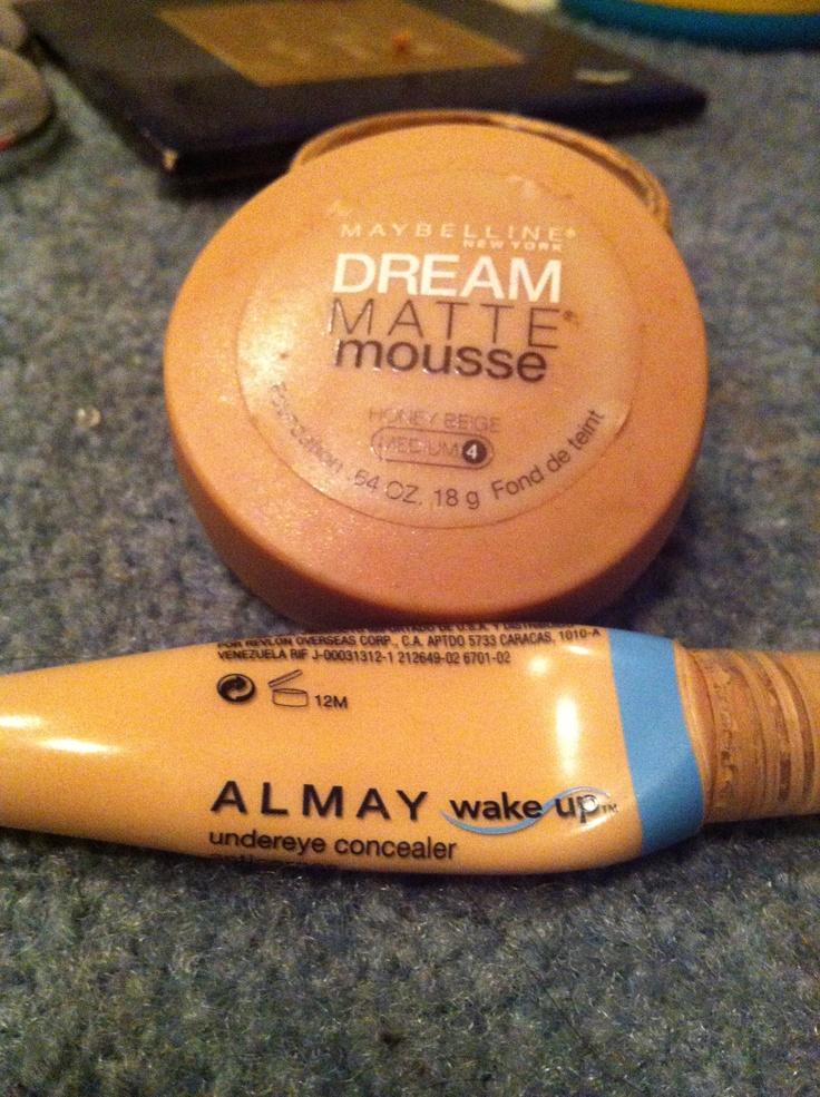 Mix a little Almay under eye concealer with Maybelline Matte mousse for a perfect hikey cover up.  Works like a dream<3