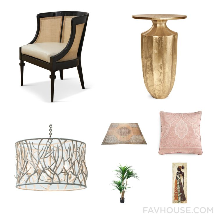 Decorating Advice With Chair Gold Accent Table Oly Ceiling Light And Medallion Area Rug From September 2016 #home #decor
