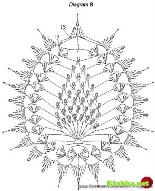 Мотивы крючком-  pineapple easter egg