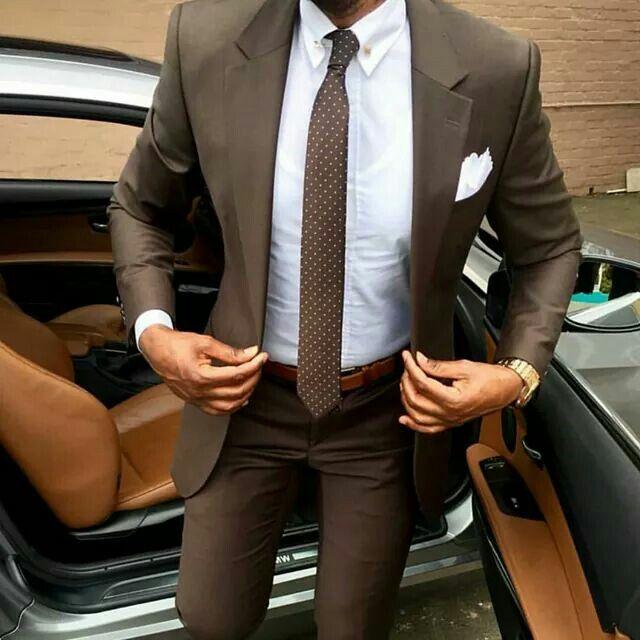 Men's brown suit | @iswmenswear iswmenswear.com