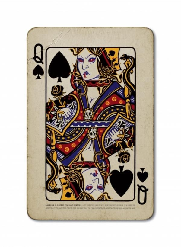 """Anti-gambling Campaign: """"QUEEN"""" Print Ad  by Saatchi & Saatchi Thailand"""