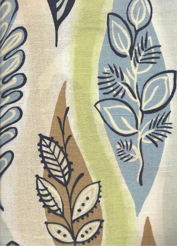 Vintage 50s Fabric Pieces 3 coordinates Cotton by TextileTrove