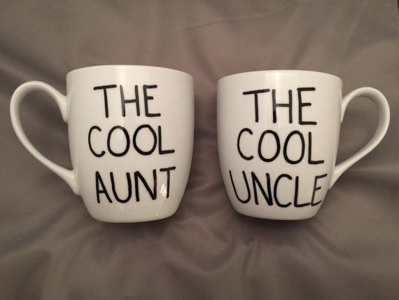 The cool aunt. The cool uncle mug set. Pregnancy by MommysCoffee                                                                                                                                                                                 More
