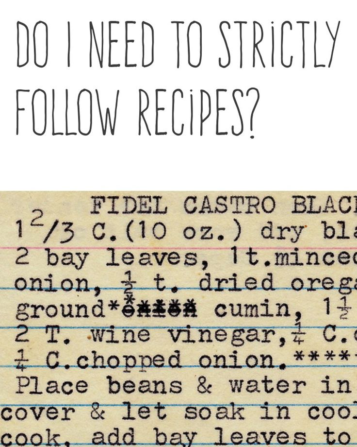 Do I need to strictly follow recipes?   Recipes are only a guideline. You can replace ingredients with similar ingredients that you like more. You should choose less calorific and healthier products in your modified recipes.   More cooking tips and hacks https://happyforks.com/hack/285