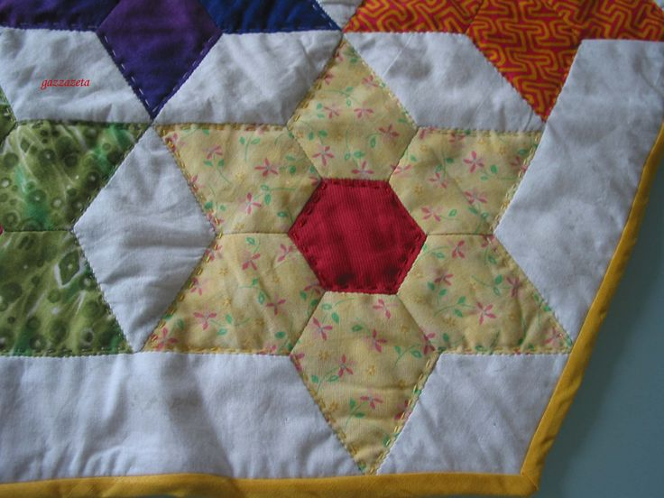 English paper piecing - hand quilting