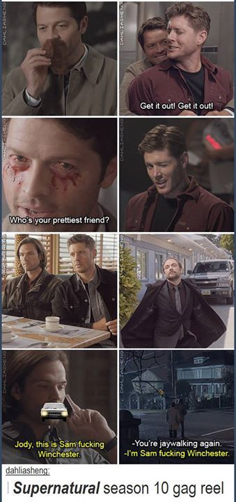 eyewear accessories Supernatural Season 10 gag reel