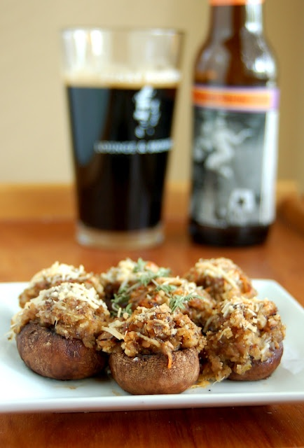 The Beer Cook: Beer Stuffed Mushrooms #ForDad #FathersDayMenu