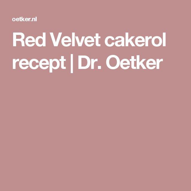Red Velvet cakerol recept | Dr. Oetker