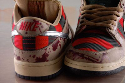 Nike Freddy Krueger-themed shoes have blood-spatter details and melted flesh soles