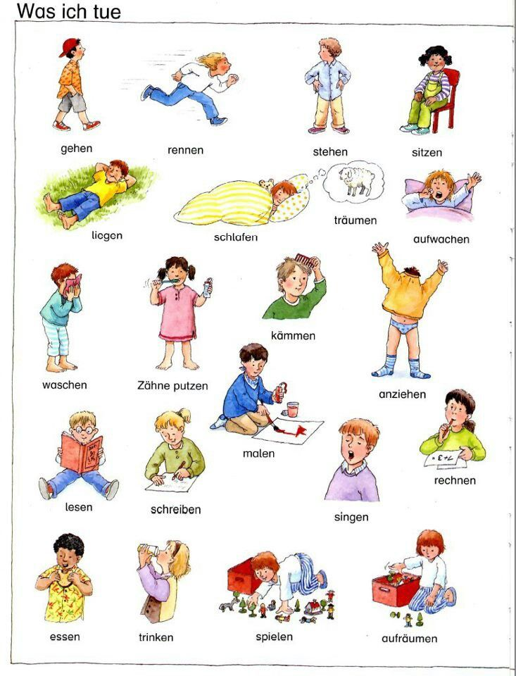 German verbs - Was ich tue / What I do