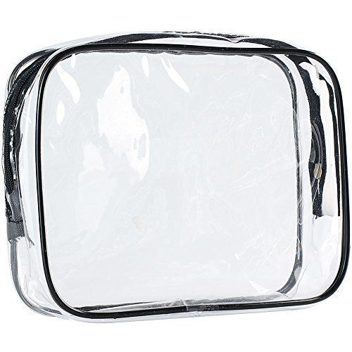 $4.79 (40% Off) on LootHoot.com - ScivoKaval Clear Carry-On Travel Toiletry Bag, TSA Approved 3-1-1 Airline, 1-Quart Sized with Zipper for Men and Women
