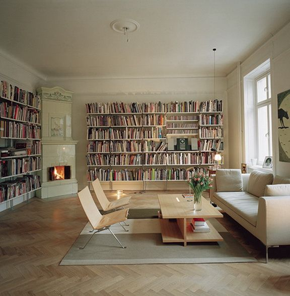 The correct location bookshelves