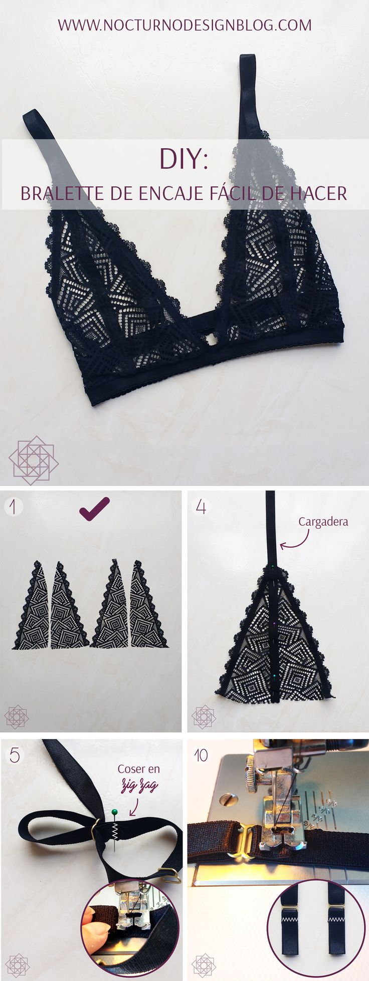 DIY: Bralette de encaje fácil de hacer