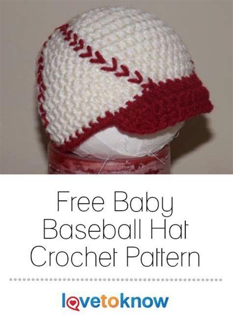 Image Result For Free Hat Crochet Patterns Baby Baseball Cap