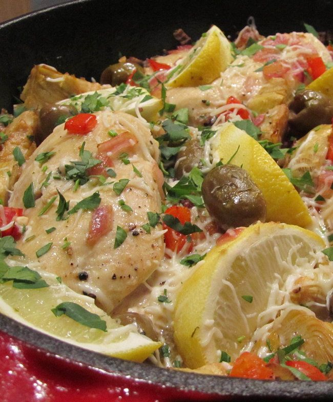 Recipe for Artichoke Lemon Olive Chicken