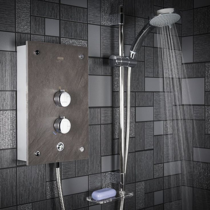 Mira Galena Electric Shower - 9.8kW Slate Effect. Best price guarantee, checked daily. In stock: Delivery Next Day. Paypal welcome. Plumbworld for bathrooms
