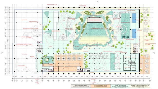 План 2-го уровня. Концепция реконструкции бассейна «Лужники» © Arch Group