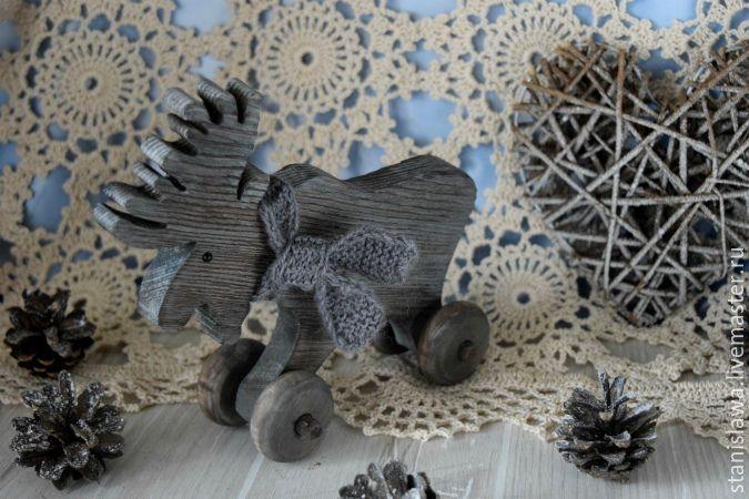 Купить Интерьерная игрушка Лосик - коричневый, новогодний сувенир, новогодний декор, новогодний интерьер