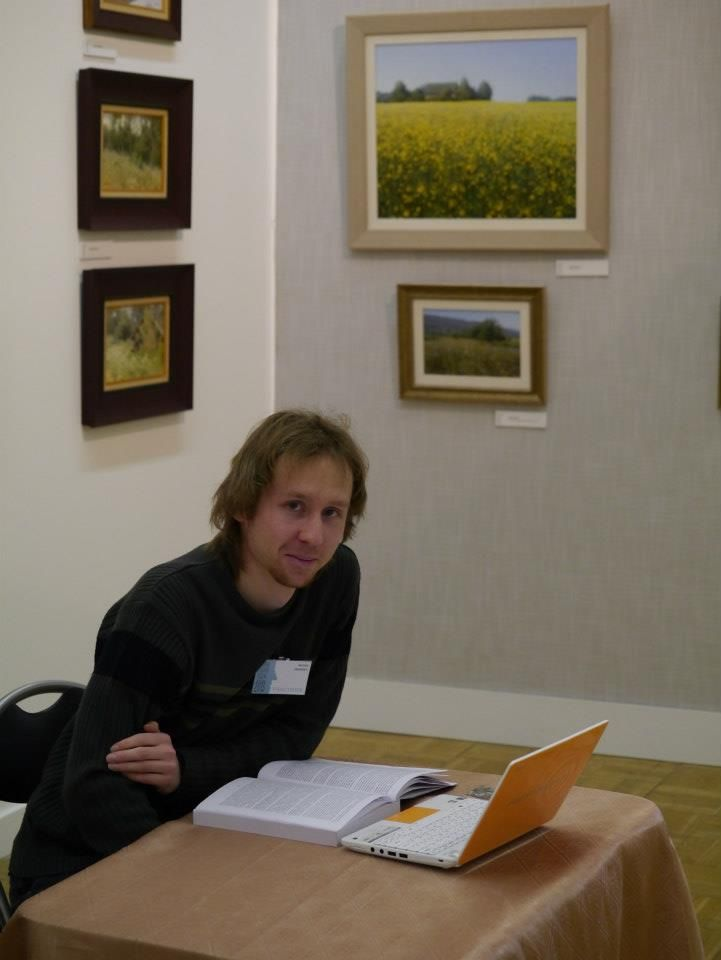 I am on Moscow International Art Salon