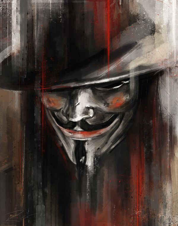 'A Man in a Mask' Inspired by V for Vendetta.My submissions for Ltd. Galleries, 'Mint Condition 3' show opening on March 28th in Seattle, WA. Edition of 50, 11'x14' Giclee Print.Prints available at http://www.ltdartgallery.com/product/v-by-robert-bruno-…