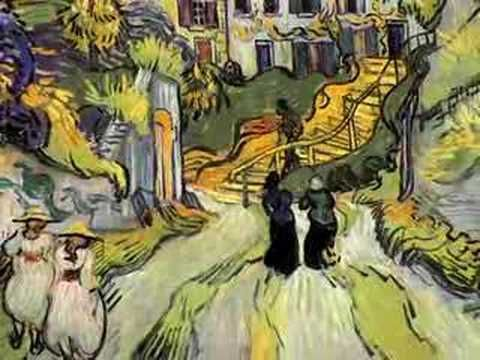 This is a video that show different kinds of drawings that Vincent van Gogh made. He was a passionate artist who strongly believed that all expressions should be expressed through colors. His disability was that he had epilepsy.