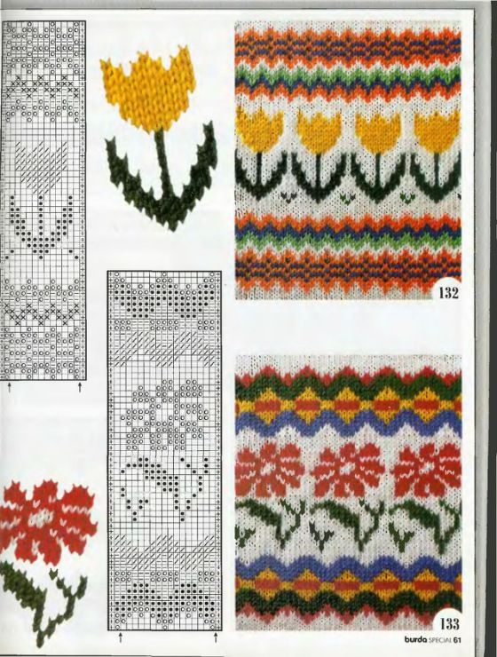 Inspiration for the California poppy part of the fair isle design