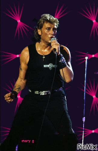 Image result for johnny hallyday LIVE GIFS