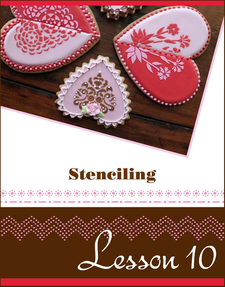 NEW COOKIE DECORATING VIDEO BY JULIA M USHER: Because of the large quantity of requests I've received for basic cookie stenciling tips, I've released Lesson 10 (basic cookie stenciling) from my DVD series to YouTube for the world to see for free. I hope you enjoy it! In subsequent videos, I'll be building on these tips by showing advanced dual-mode and color blocking stenciling techniques.