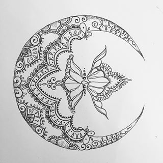 mandala crescent moon - Google Search