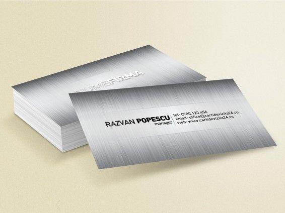 "Model carti vizita ""Metallic Silver"""