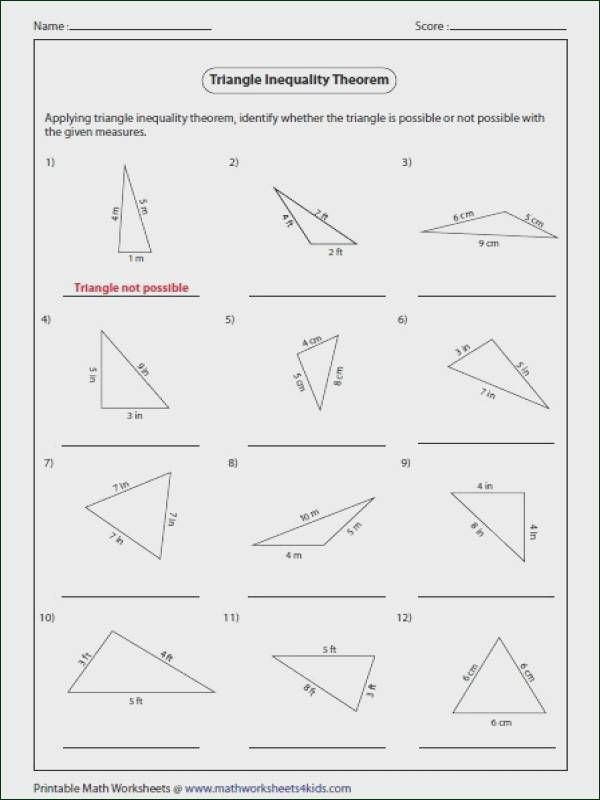 Area Of A Triangle Worksheet Picture Sure In 2020 Triangle Inequality Triangle Worksheet Theorems
