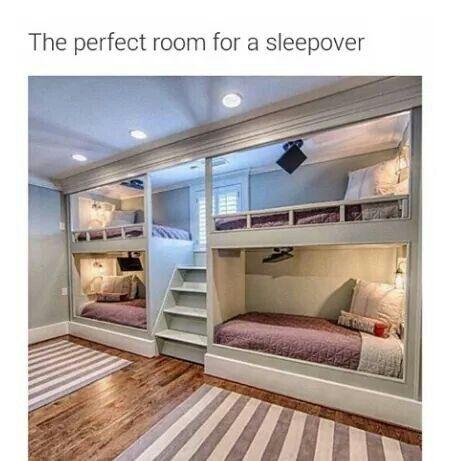 Kids Room Ideas Bunk Beds best 25+ sleepover room ideas on pinterest | cool sleepover ideas