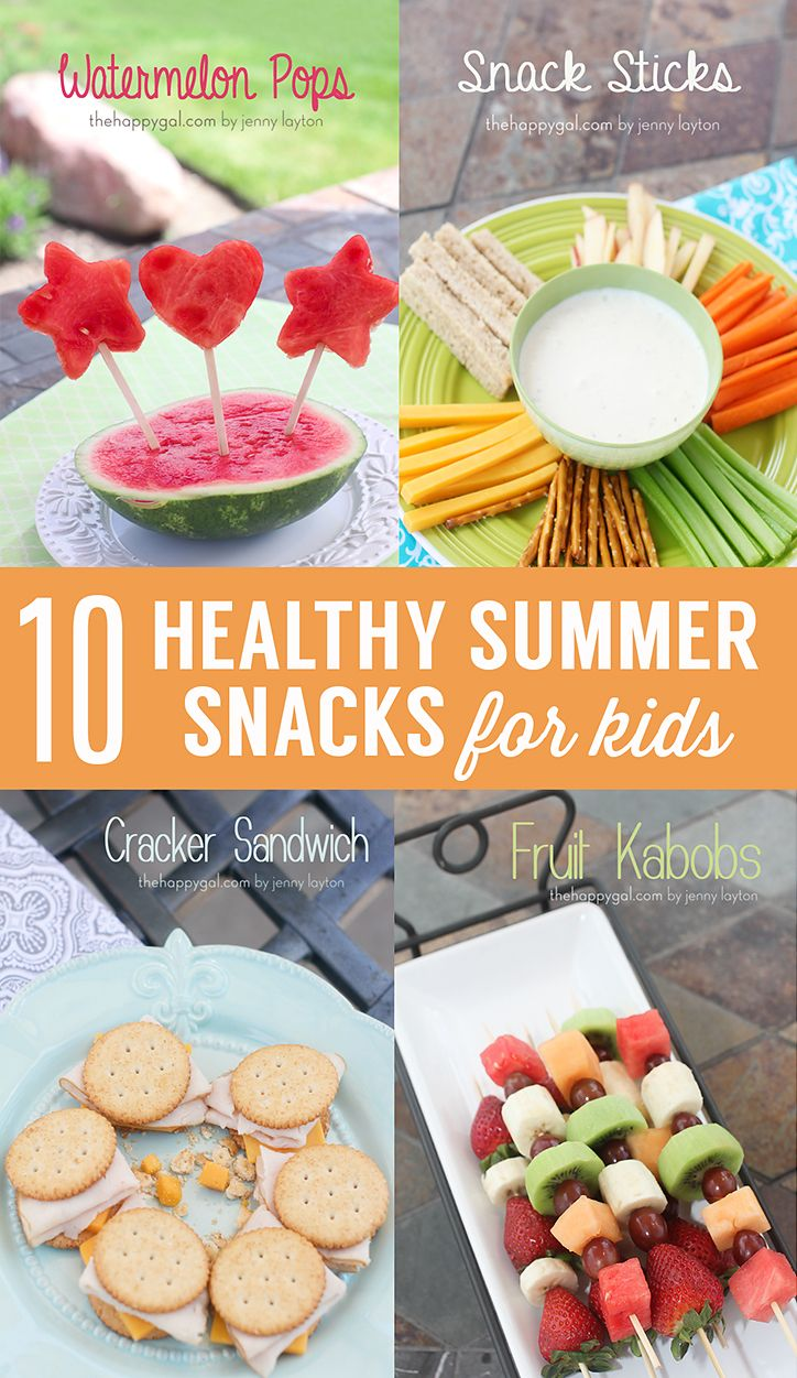 10 Healthy Kids Snacks for Summer--love every one of these ideas, and my picky, picky eater would gobble them up!