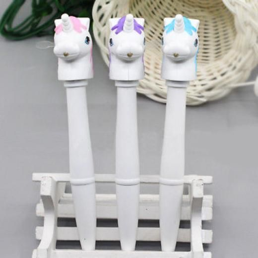 Bigbigshow2012us New Multifunction Sound Unicorn Pattern Electronic Pen Student Supplies Natural Plastic + Components Pattern Sound Light Gift Boys & Girls Built-in 3 X Ag10 Button Battery China