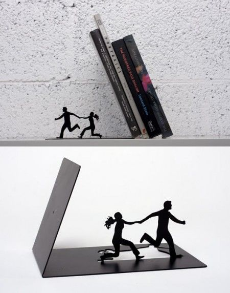 Falling Bookends • Made by Artori DesignIdeas, Funny Book, Stuff, Book Holders, Artori Design, Things, Fall Bookends, Products, Creative Furniture