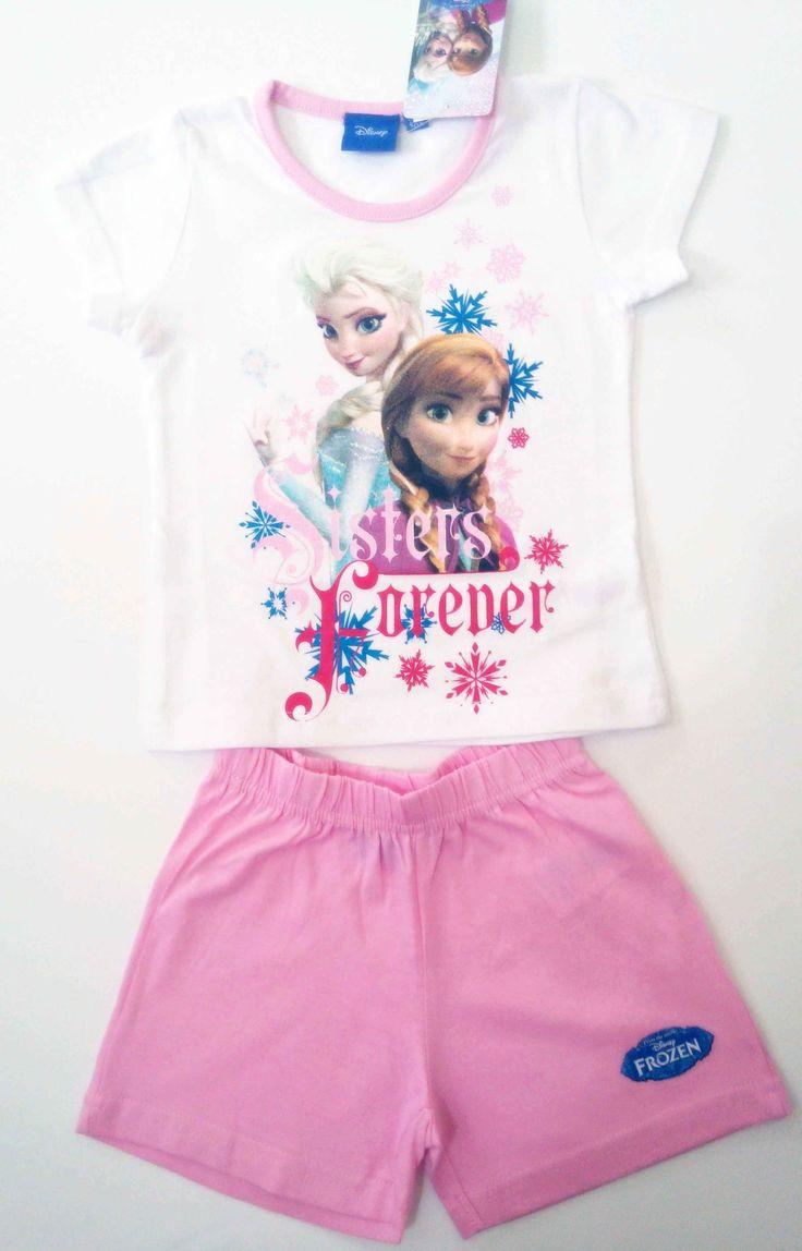 BabyTreasure- Πυτζάμα παιδική καλοκαιρινή Frozen Disney - Frozen - 12,00€