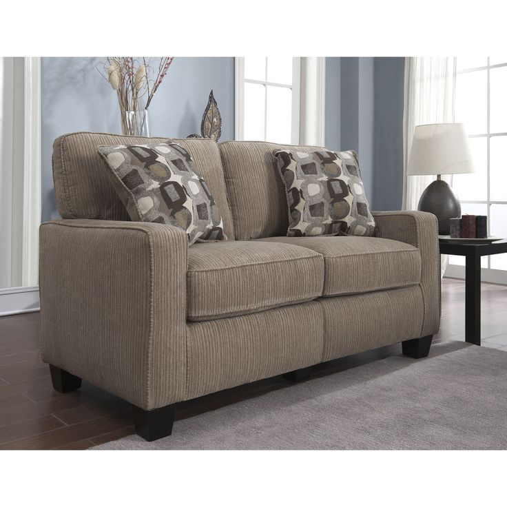 Serta Santa Cruz Collection Platinum Fabric Loveseat   Overstock  Shopping    Great Deals on Serta Sofas   Loveseats. 79 best Couches images on Pinterest   Sectional couch cover  Diy